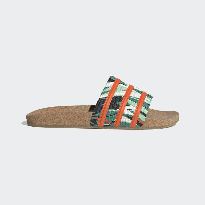 adilette Tropical Print Cork Slides