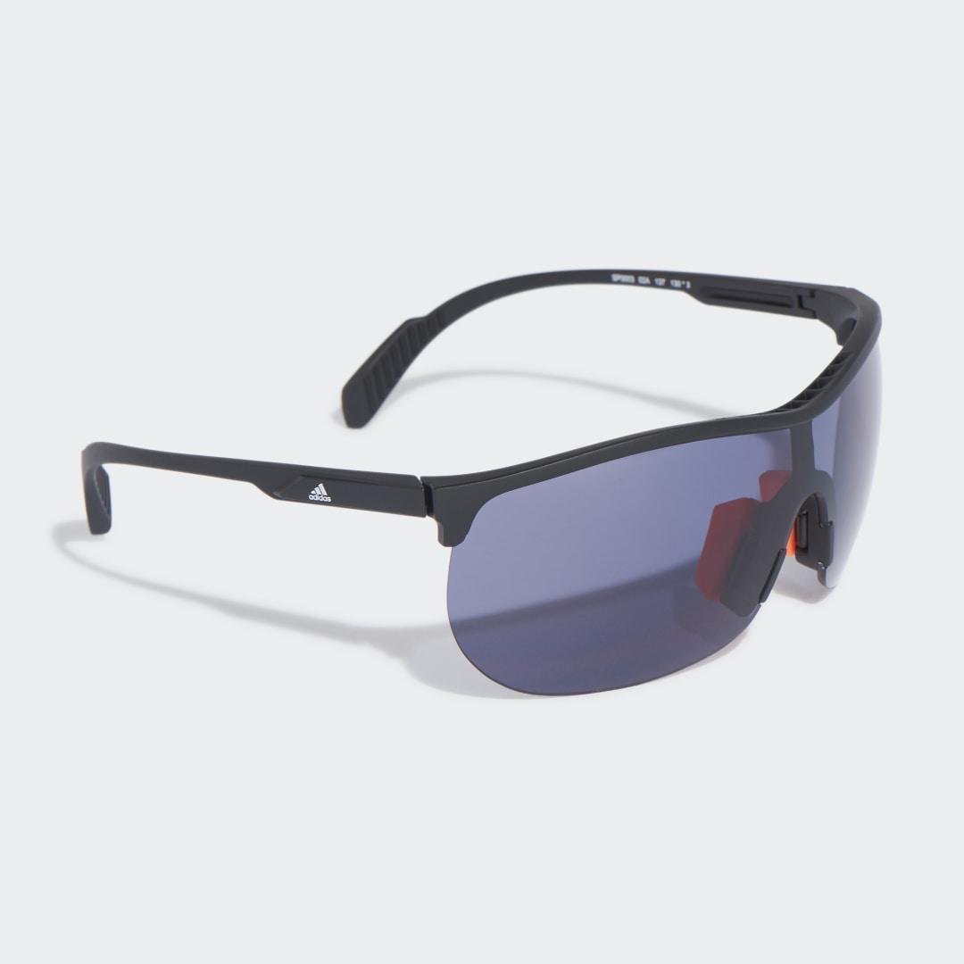 SP0003 Shiny Black Injected Sport Zonnebril