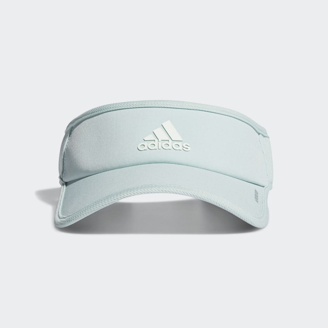 adidas Outsmart the sun in this lightweight mesh visor. Made to manage moisture, it offers maximum airflow in any conditions. A hook-and-loop strap-back closure lets you adjust the fit.