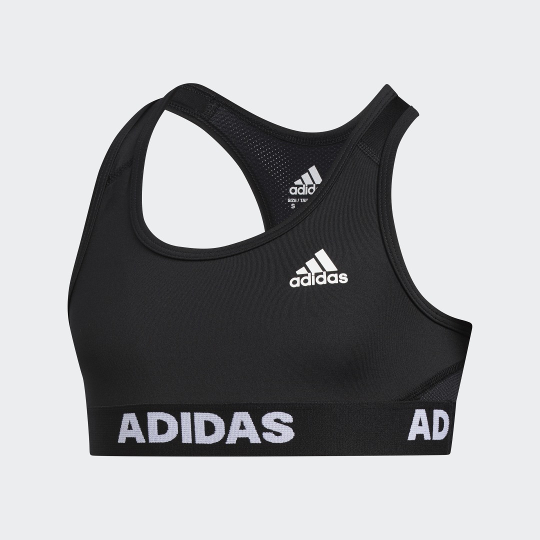 adidas Stay cool as your workout heats up. This juniors\\\' sports bra is breathable, quick-drying and super comfortable. The mesh back gives it a breezy feel, no matter how hard you train.