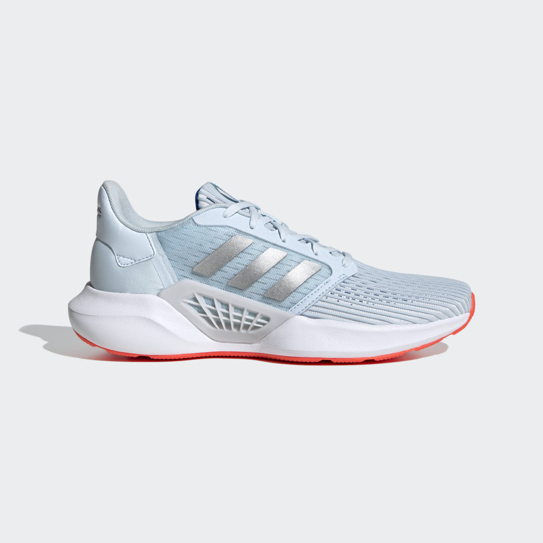 adidas Beat the heat. Warm weather shouldn\'t signal a day off. These adidas running shoes have built-in ventilation. Cutouts in the mesh upper and a perforated sockliner work in tandem to keep you cool. A lightweight midsole cushions your stride to keep you comfortable long past the finish line.