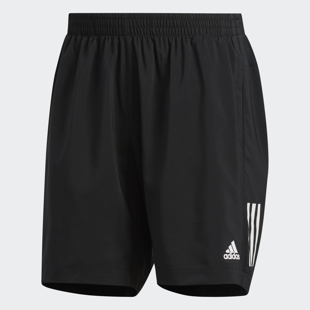 adidas Focus on unlocking your potential. These running shorts feature breathable, quick-dry fabric to help keep you comfortable. A high-rise waist and regular fit offer a stay-put feel from start to finish. A concealed zip pocket allows you to store small essentials.