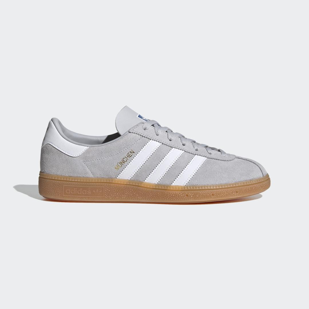 Кроссовки München adidas Originals белого цвета