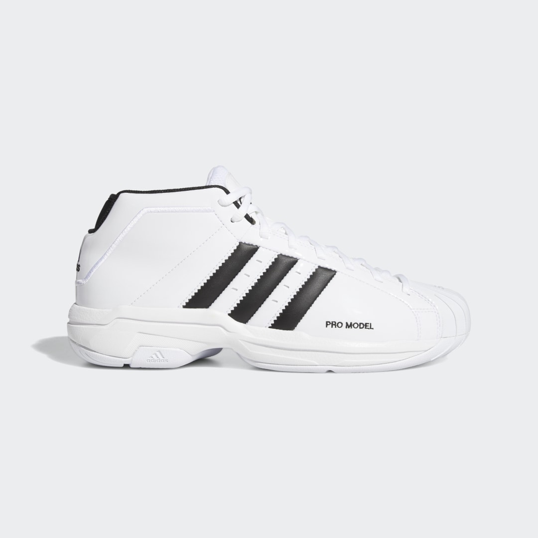 adidas Look and play like the legends of the hardwood. These basketball shoes have lightweight cushioning in the midsole so you can drive and slash in comfort. A shiny patent leather upper and a classic shell toe are a nod to classic adidas basketball style.