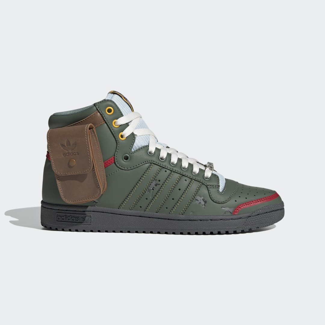 фото Кроссовки top ten hi star wars adidas originals