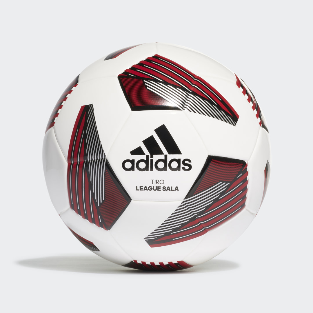 adidas Clean and classic, the adidas Tiro soccer range covers all your team\\\'s needs. Made for futsal training sessions, this Tiro League Sala Ball displays an IMS mark to confirm its quality. Its seamless construction and low-rebound design will help you own the courts with a killer first touch.