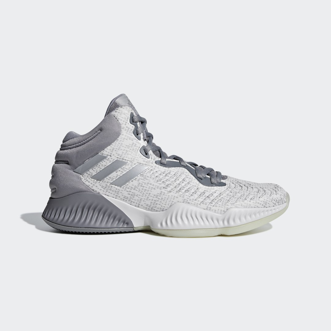 adidas Create separation from defenders and explode to the hoop in these shoes featuring enhanced ankle support and lateral stability. Flexible cushioning in the midsole provides extra comfort as you get buckets in transition. A molded knit upper adds durability to power through the entire season.