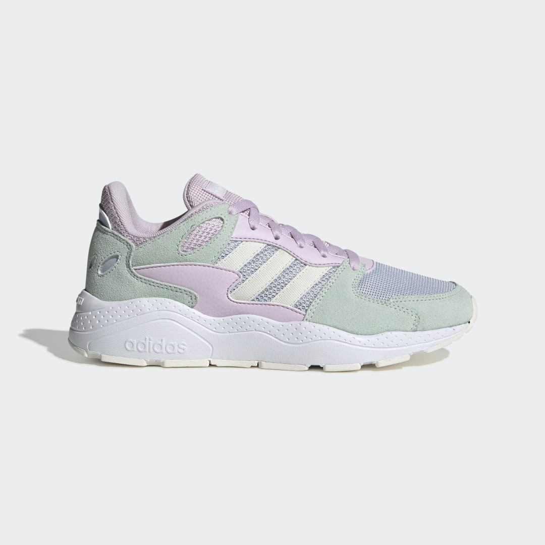 adidas A runner look fueled by confidence. These shoes show off uncompromising style in a bulky, retro-inspired build. The smooth leather upper is contrasted with textured suede overlays. Plush cushioning ensures a smooth, comfortable ride.