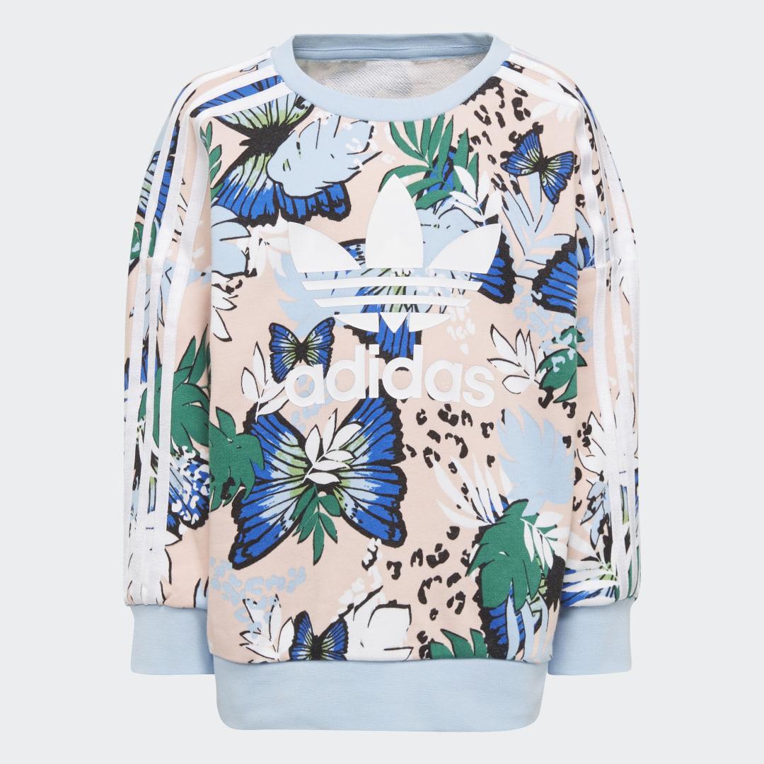 HER Studio London Animal Flower Print Sweatshirt en Legging Set