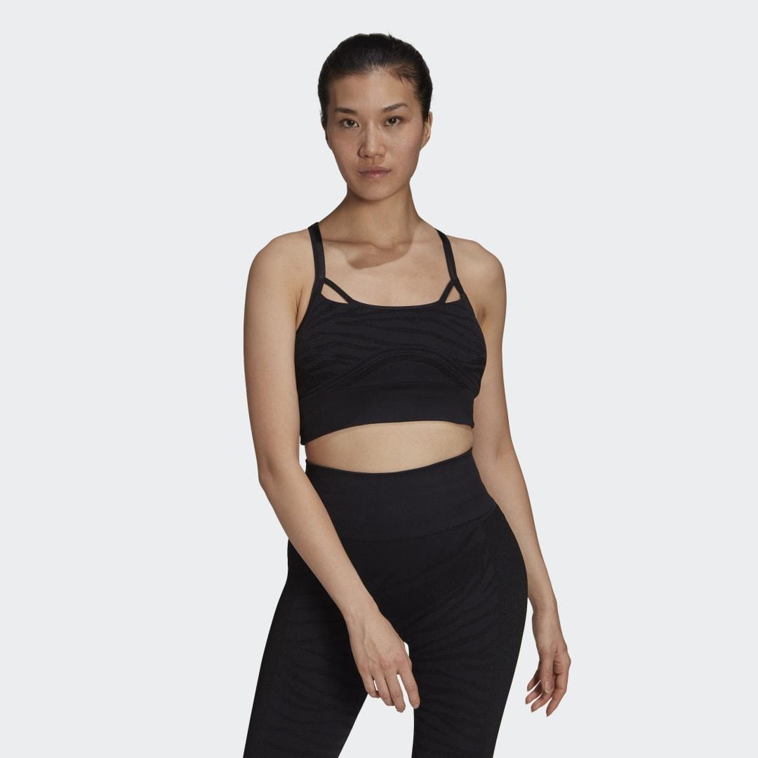 adidas by Stella McCartney Seamless Yoga Light Support Beha