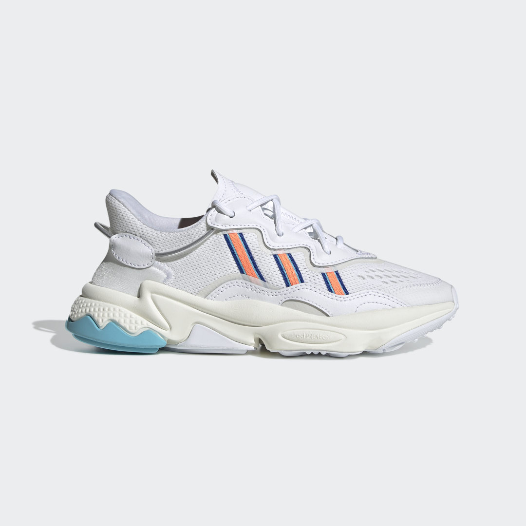 adidas Create, then re-create. Designed in the \'90s, the OZWEEGO 3 running shoe was famous for lightweight comfort and \'90s style. These adidas shoes take the best of that retro style and twist it into something brand new. Tubing at the heel adds an authentic retro-tech detail.