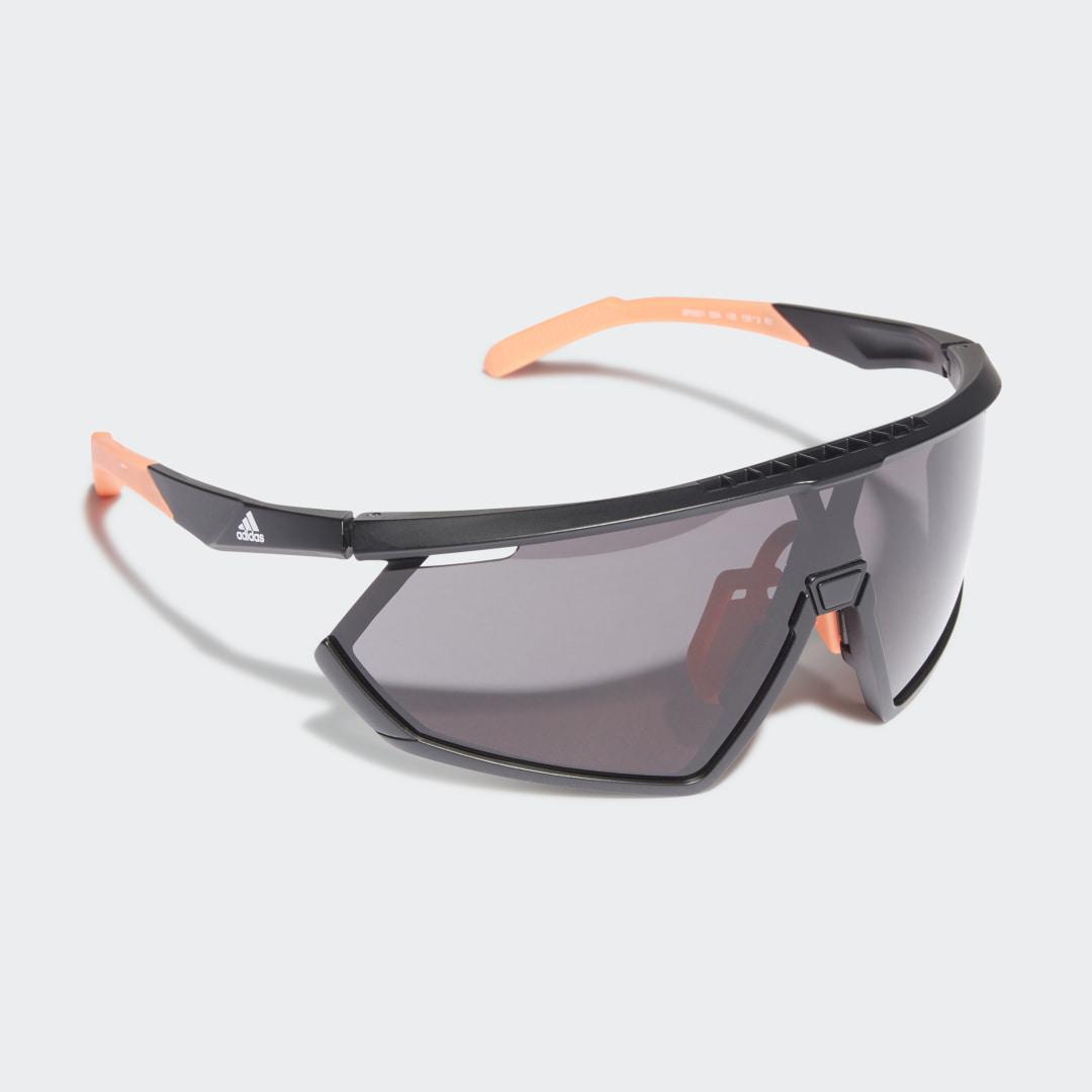 SP0001 Shiny Black Injected Sport Zonnebril