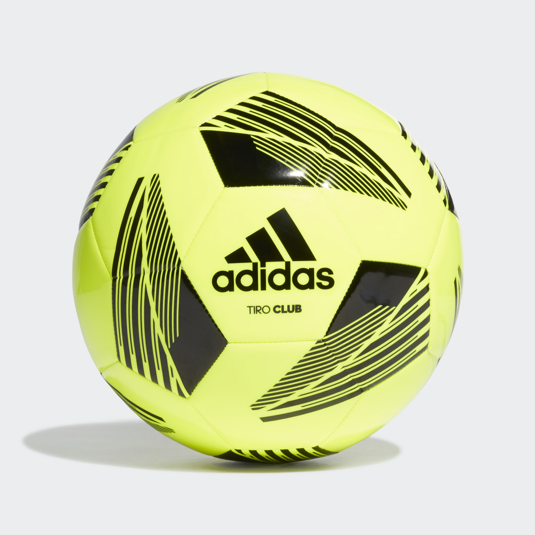 adidas Clean and classic, the adidas Tiro soccer range covers all your team\\\'s needs. Pull this Tiro Club Ball out of your kit bag when you need a quick fix on the training field or at the local park. It\\\'s machine-stitched and has a butyl bladder so it\\\'ll be ready to roll whenever you feel the need to show your skills.