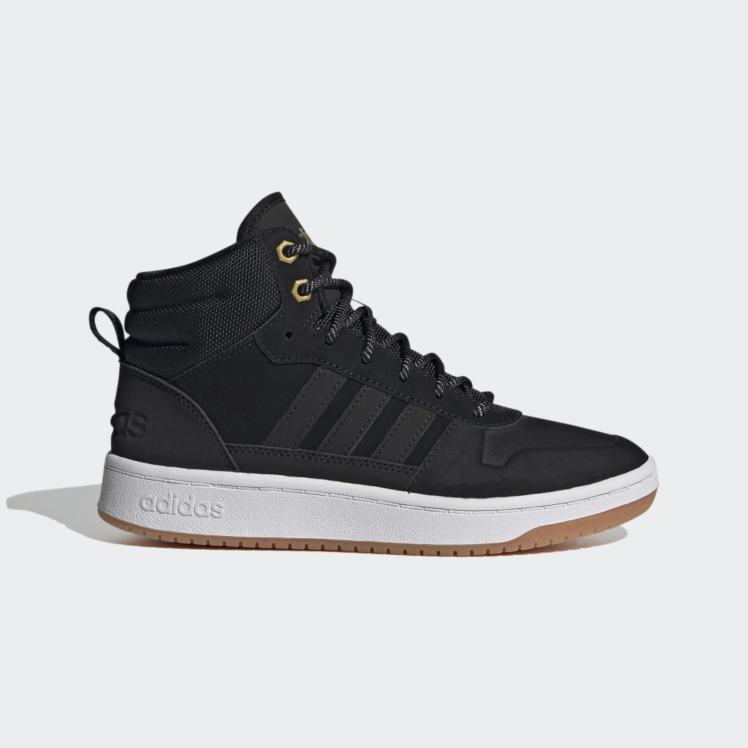 adidas For youngsters who draw energy from unpredictable weather. These kids\\\' boots are made to keep them warm on blustery days. They\\\'re built with hoops DNA for a streetwise look. A rubber outsole helps them grip when they\\\'re weaving and leaping on the court or the playground.