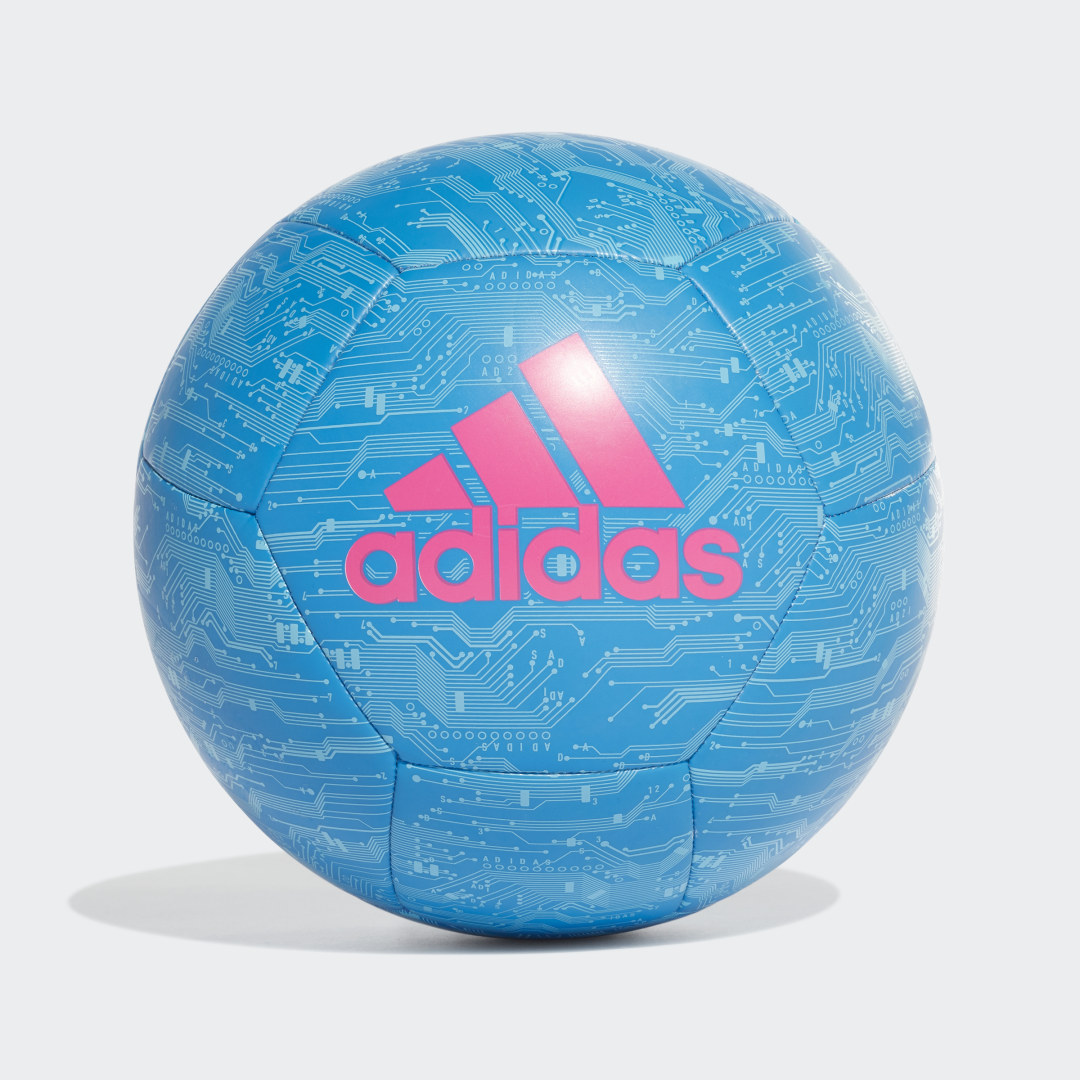 adidas Made for center stage. This hard-wearing soccer ball displays an eye-catching electronics-inspired design shared with adidas\\\' iconic range of soccer shoes and goalkeeper gloves. Its tough TPU cover and machine-stitched construction means it\\\'s perfect for kickabouts and casual games.