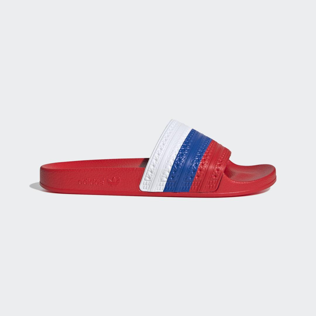 мужские шлепанцы adidas, красные