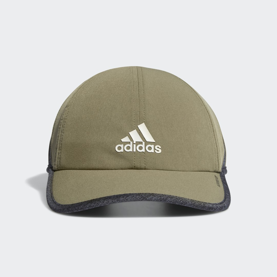 adidas Breathable and lightweight, this hat brings cool comfort to warm days. It pairs a ventilated design with a moisture-wicking sweatband. A non-glare lining under the brim makes it a great choice for sunny days.