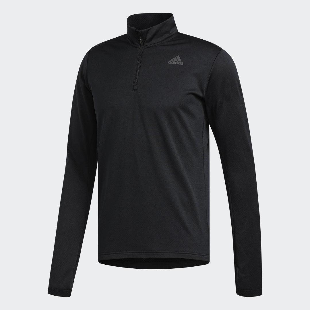 Лонгслив для бега Response Climawarm 1/4 Zip adidas Performance