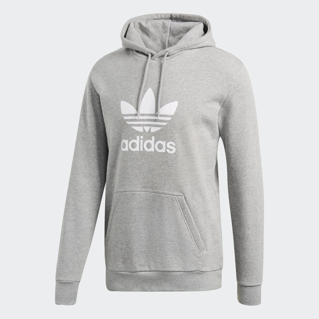 Фото - Худи Trefoil adidas Originals серого цвета