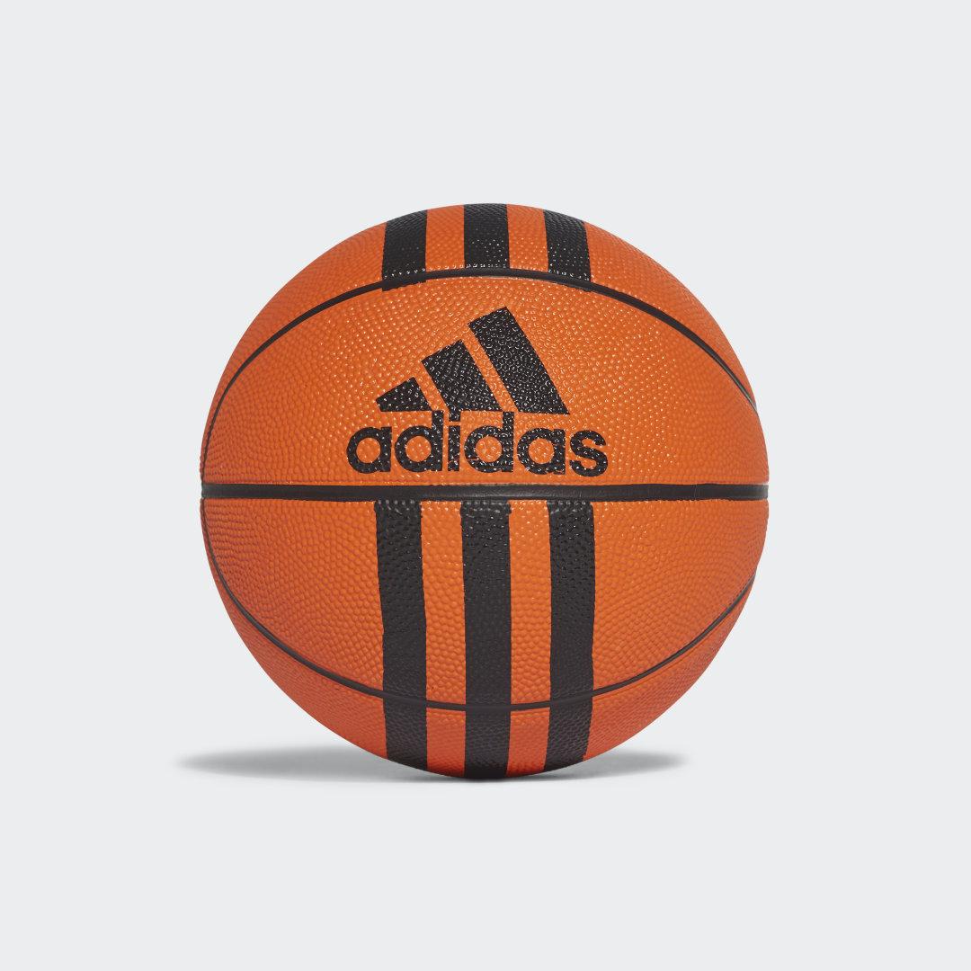 Баскетбольный мини-мяч 3-Stripes adidas Performance черного цвета