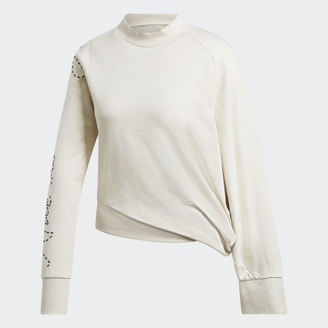 женский лонгслив adidas, белый