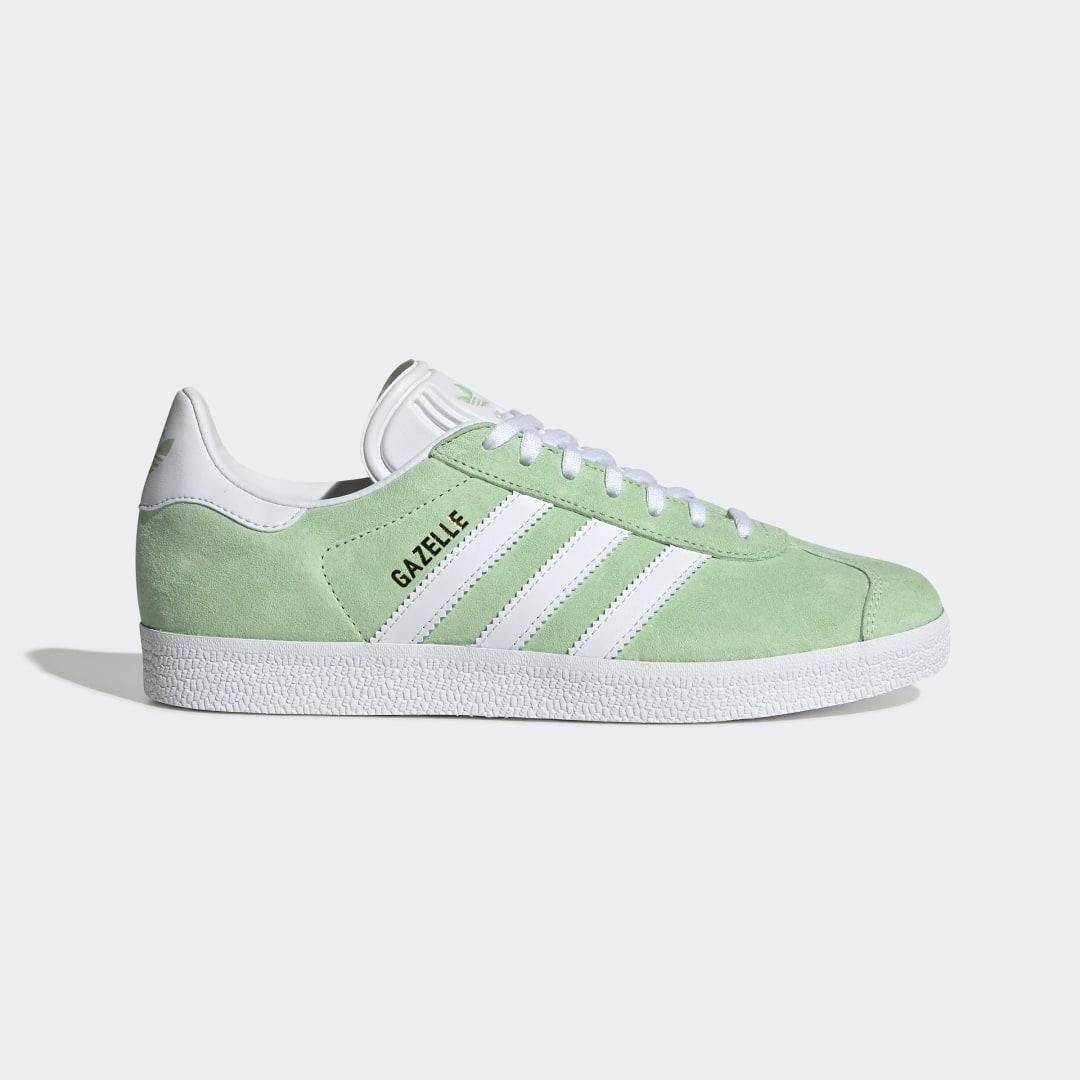 adidas Gazelle Shoes Glow Green Womens - EE5534