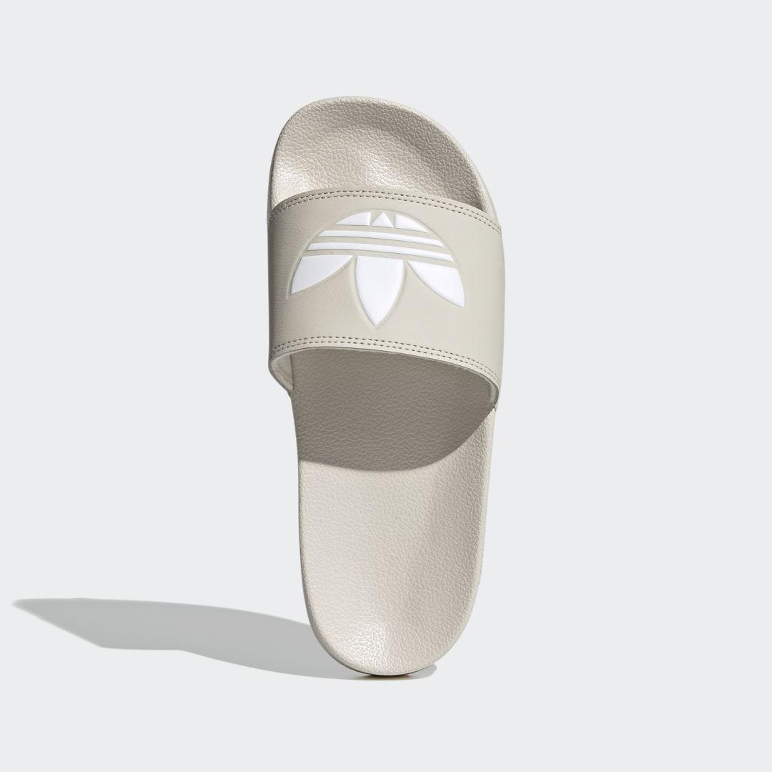 женские шлепанцы adidas, белые