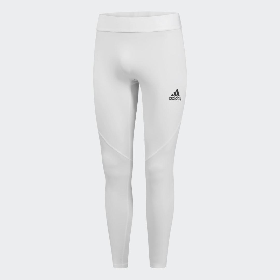 Тайтсы ASK LONG TIGHT adidas Performance белого цвета