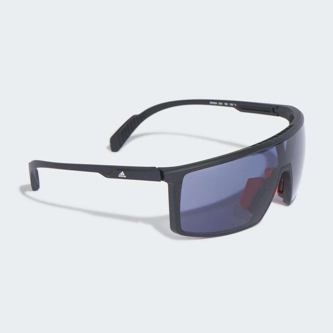 SP0004 Shiny Black Injected Sport Zonnebril