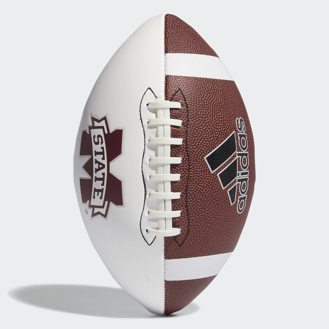 adidas This football is designed for players who love the gridiron. Made of imitation leather and featuring team graphics, the football can be used for a quick game of two-hand touch and also has a smooth side specifically for collecting autographs from your favorite players.