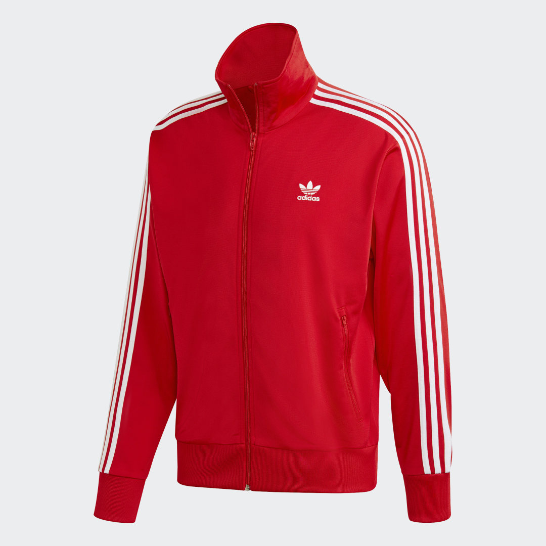 Фото 7 - Олимпийка Firebird adidas Originals белого цвета