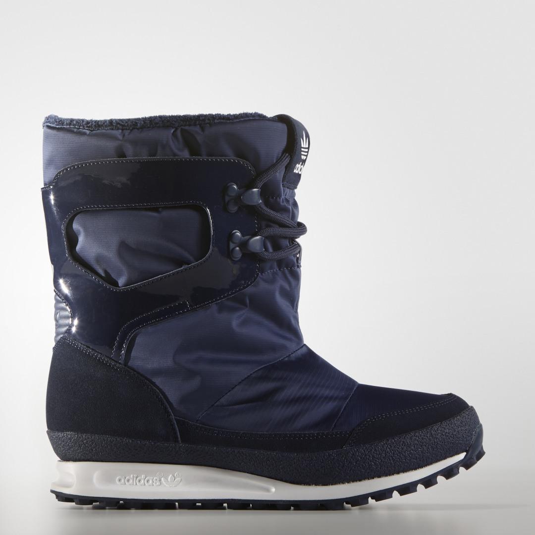 женские сапоги adidas, белые