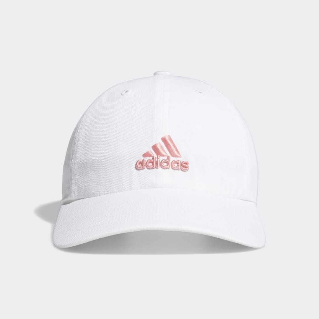 adidas Classic and sporty, this hat is embroidered with a small adidas Badge of Sport on the front. It\\\'s made from soft cotton, with a moisture-wicking sweatband inside to keep you dry while training. A metal slider in the back allows you to adjust the fit.