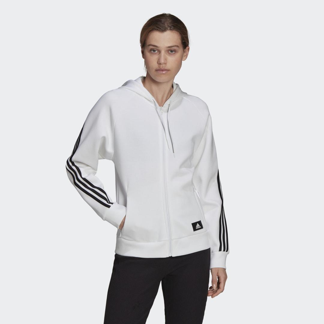 adidas Sportswear Future Icons 3-Stripes Trainingsjack met Capuchon