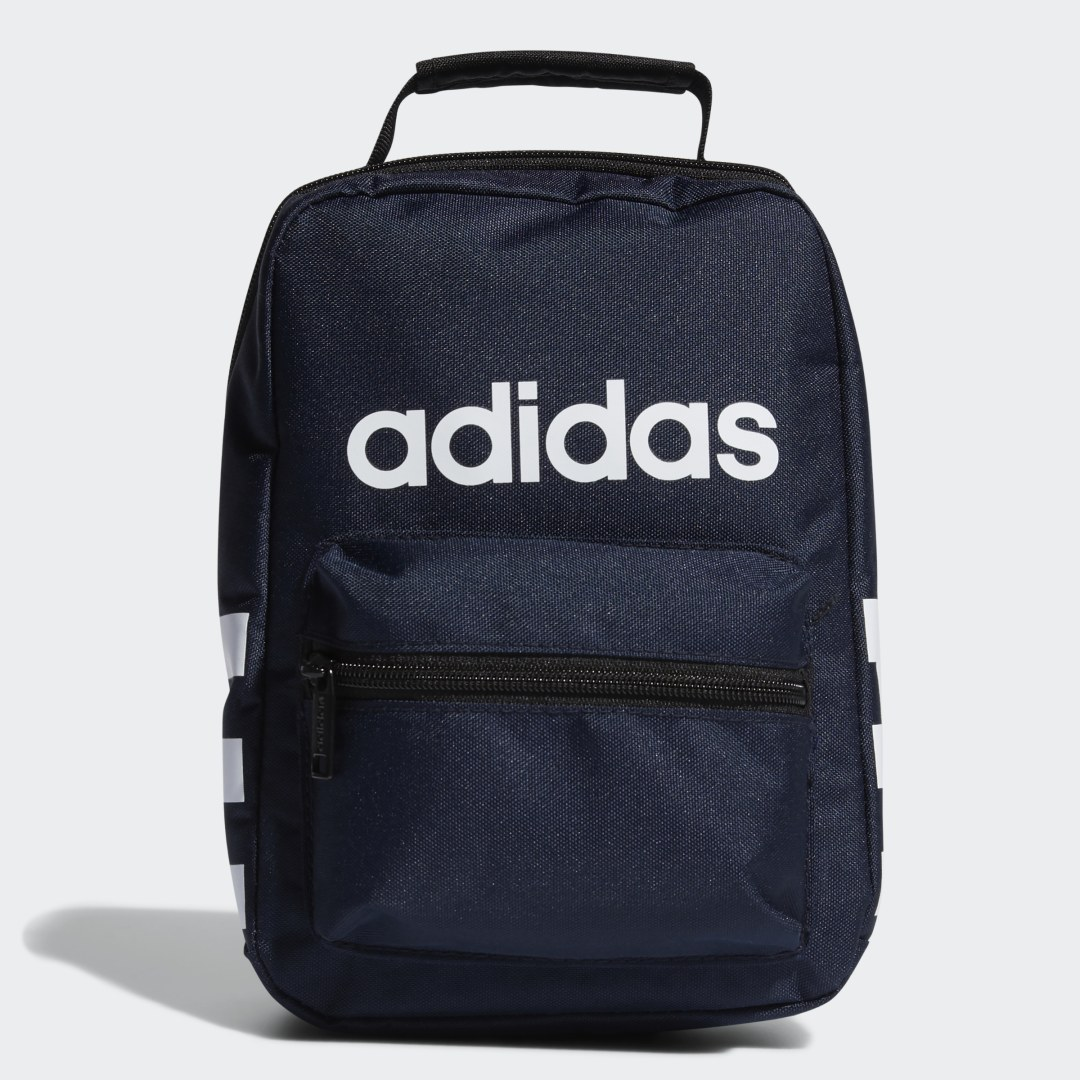 adidas Pack up this lunch bag with all the food you\\\'ll need to power through the afternoon. Its insulated lining helps keep food and drinks cool until it\\\'s time to dig in. Two outer pockets provide storage for extra snacks, utensils and napkins.