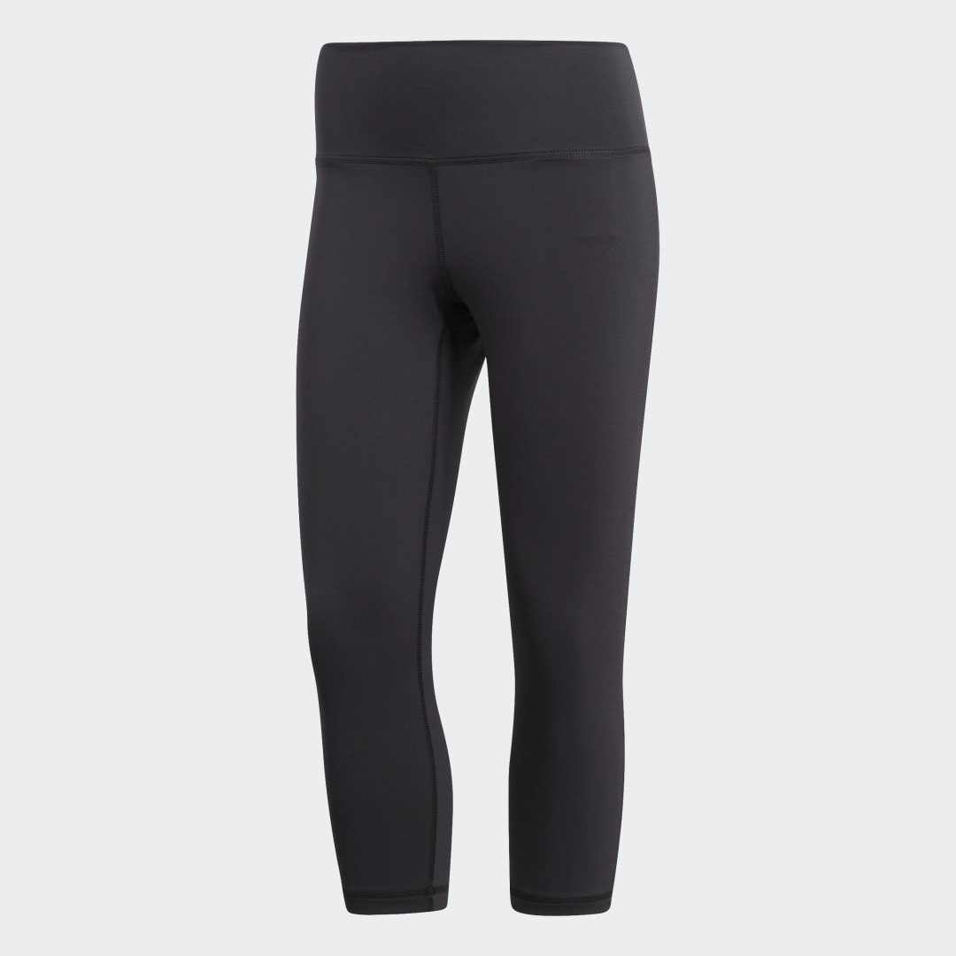 adidas Find your moment of Zen in these women\\\'s training tights. They\\\'re cropped at the mid-calf for easy movement. Made of soft, stretchy fabric that keeps you dry, these body-hugging tights feature a mesh-lined gusset that offers targeted ventilation. The high waist has an inner pocket for small essentials.