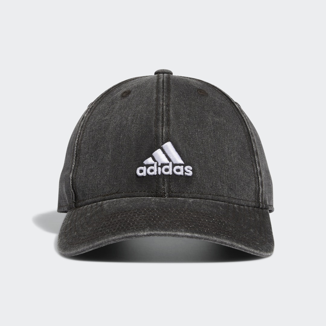 adidas Denim and weekends are made for each other, and this hat is inspired by the classic combo. It\\\'s styled in dark cotton denim with a pre-curved brim. An embroidered adidas Badge of Sport adds a sporty finishing touch.