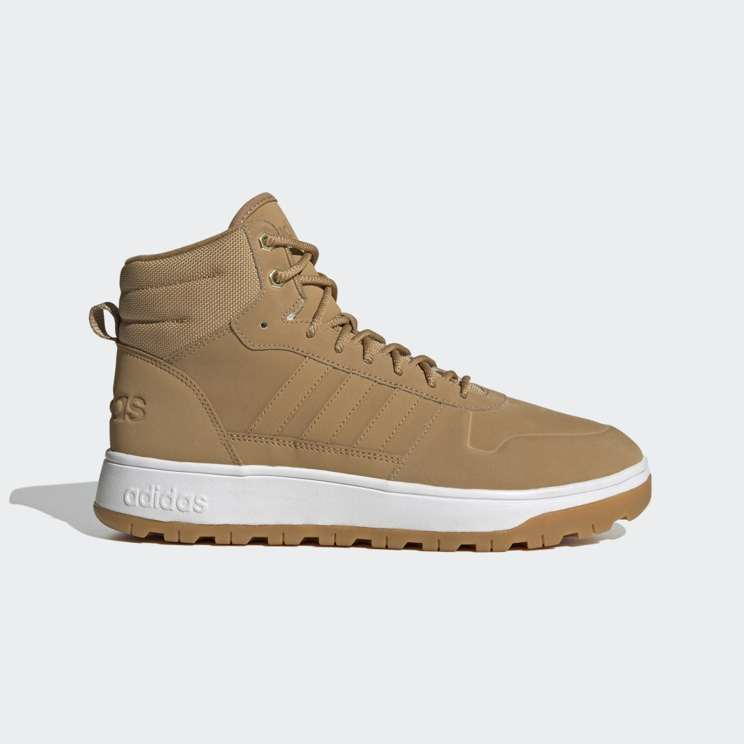 adidas Don\\\'t compromise. Stay warm, dry and confident when cold weather rolls through. Slide your feet into these basketball-inspired adidas boots to know you\\\'ll be comfortable in rain and snow.