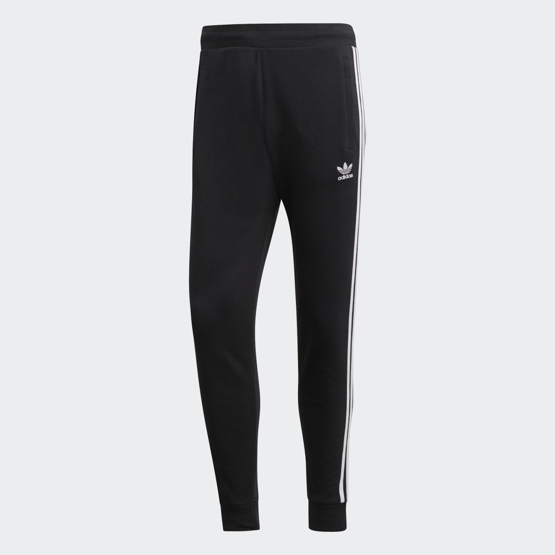 adidas Launched in 1983, Adicolor represents creativity and self-expression. These pants celebrate 3-Stripes style with a simple look and a slim, tapered fit. They\\\'re made of fleece for a plush, cozy feel.