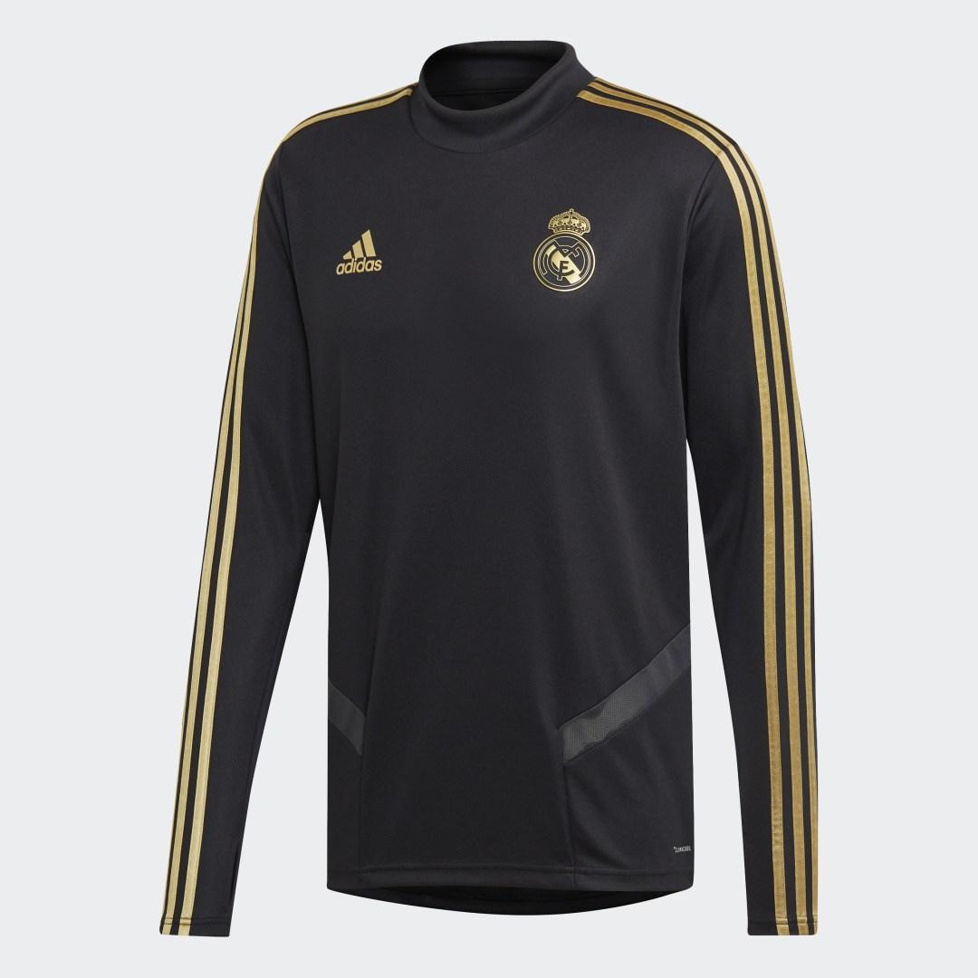 Фото 7 - Тренировочный джемпер Реал Мадрид adidas Performance черного цвета