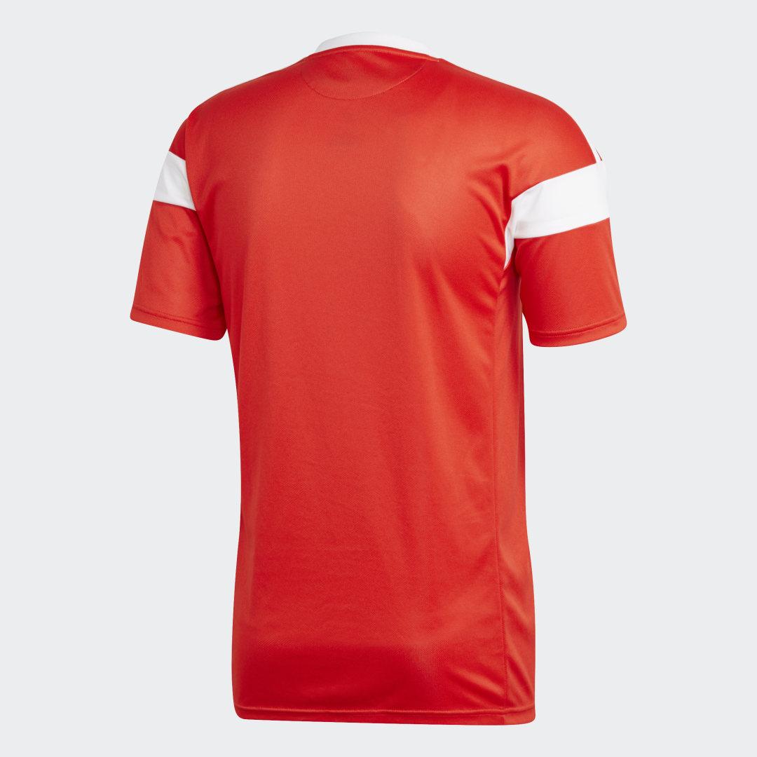 Фото 3 - Домашняя игровая футболка сборной России adidas Performance красного цвета