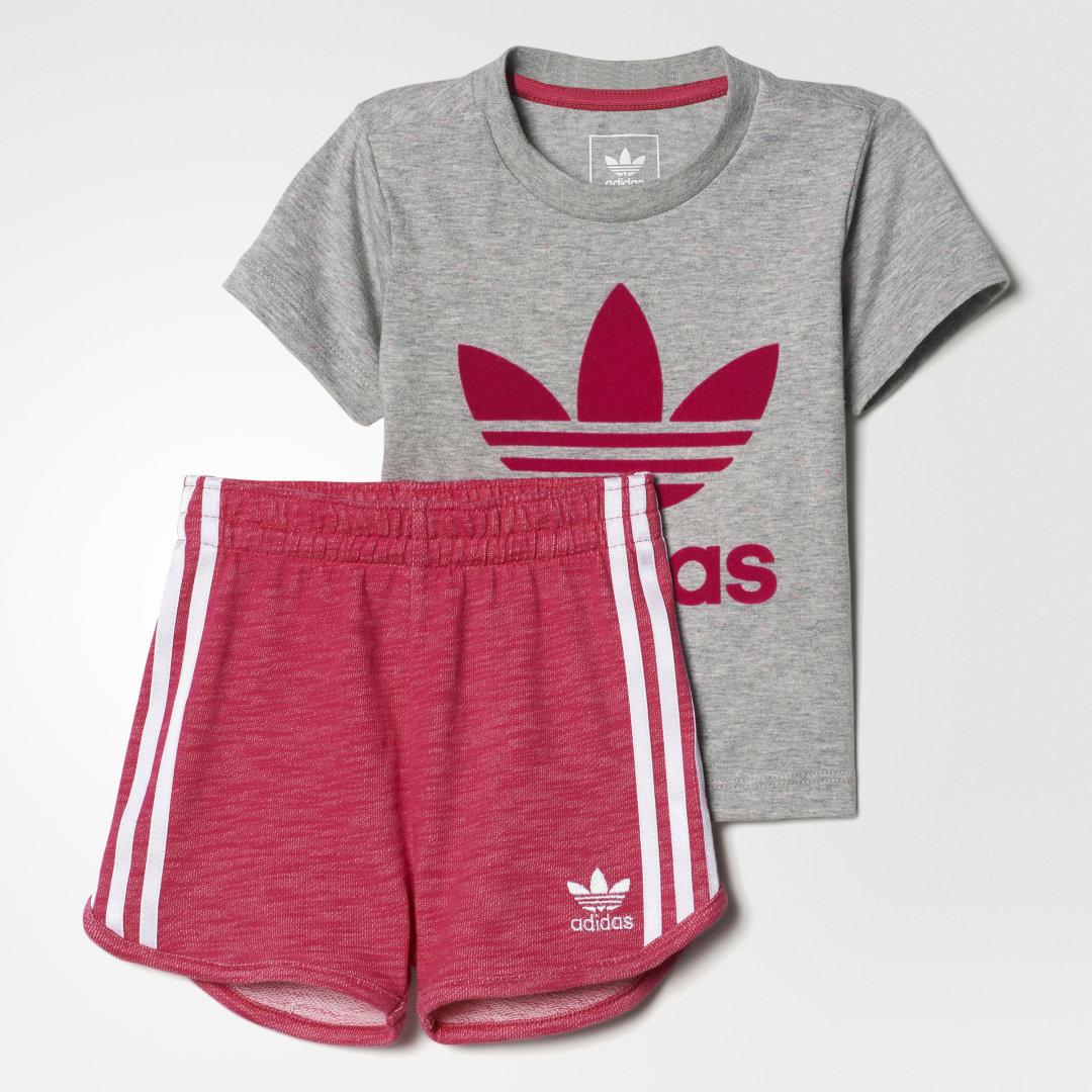 Комплект: футболка и шорты Trefoil adidas Originals