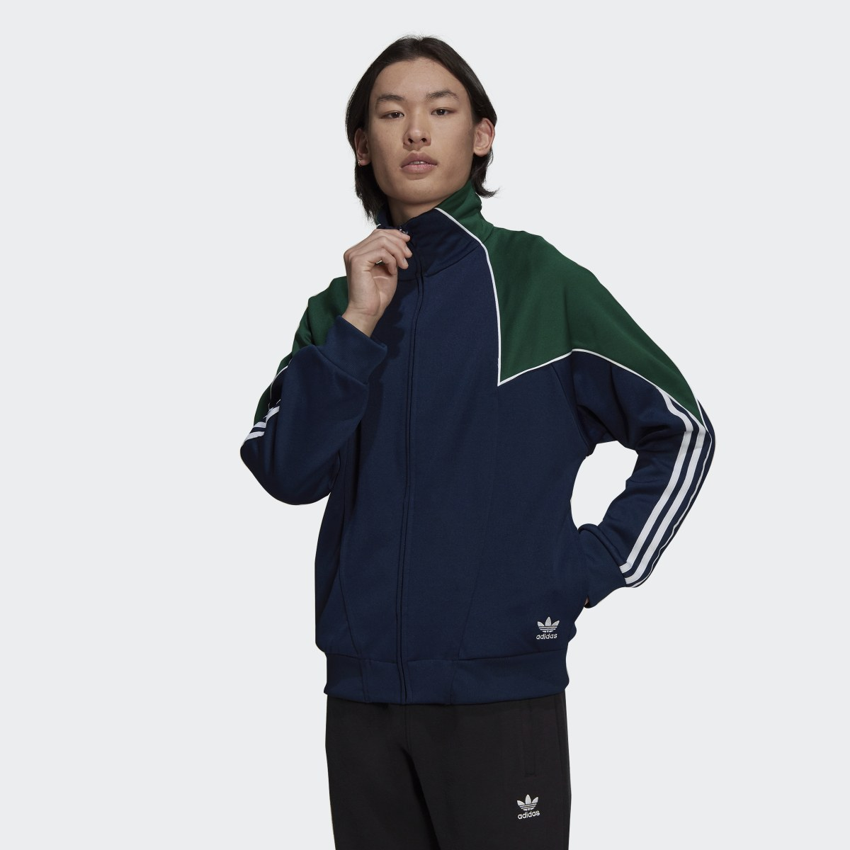 Big Trefoil Abstract Polyester Track Top