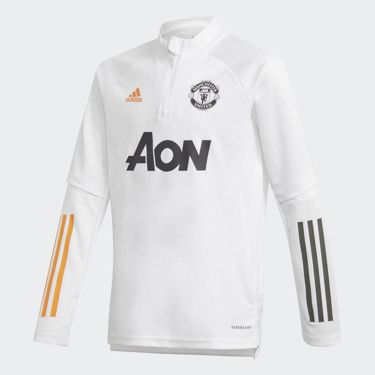 Haut d'entraînement Manchester United Blanc adidas
