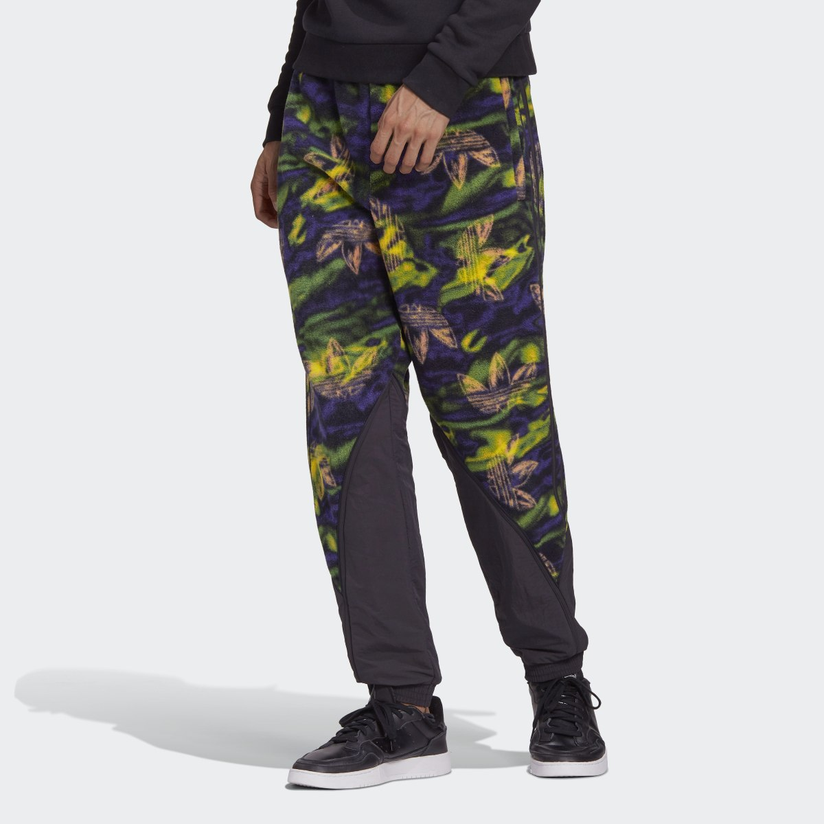 Big Trefoil Print Polar Fleece Track Pants