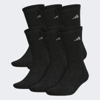 Deals on Adidas Men's Training Athletic Crew Socks 6 Pairs