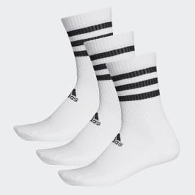 3-Streifen Cushioned Crew Socken, 3 Paar