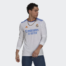 Real Madrid 21/22 Long Sleeve Home Jersey