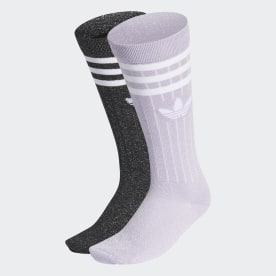 Full Glitter Crew Socks 2 Pairs