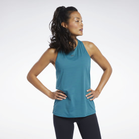 Activchill Vent Tank Top (acid Blue) Sleeveless